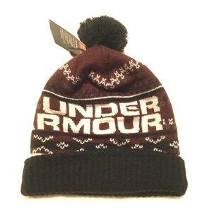 Under Armour snow winter Pom Pom ball coldgear hat